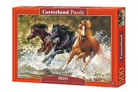 """Пазлы """"Лошади"""" Castorland 500 эл"""