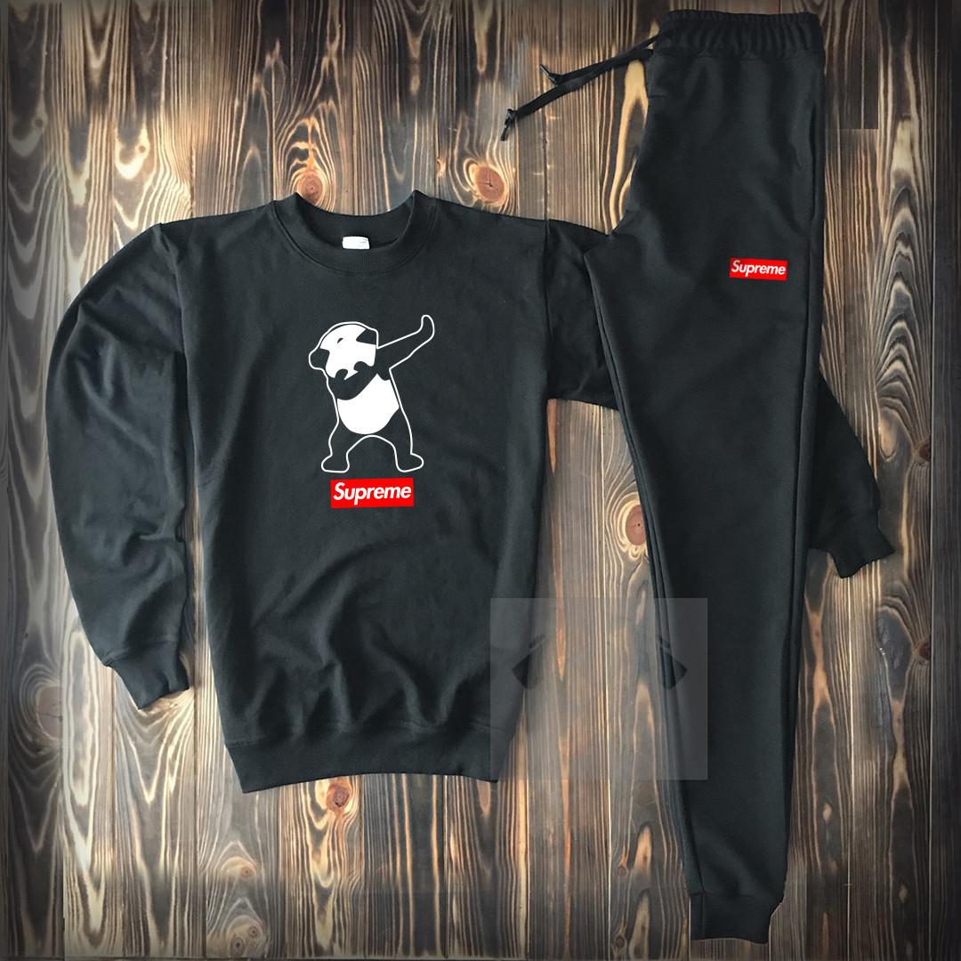 88542d9d2b150 Мужской спортивный костюм Суприм черного цвета - Интернет магазин обуви  «im-РоLLi» в