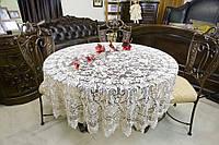 Скатерть паутинка на круглый стол