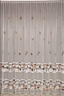 Гардина в кухню французький фатін повна висота 2,85 м(робимо вашу висоту)( обробка сторін + 40 грн.), фото 1