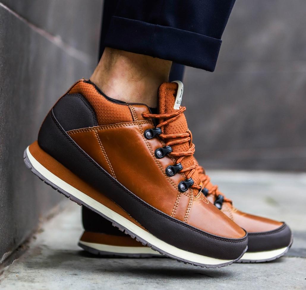 01e6d136832a Мужские кроссовки Ax Boxing brown termo. Демисезонные кожаные кроссовки -  ботинки