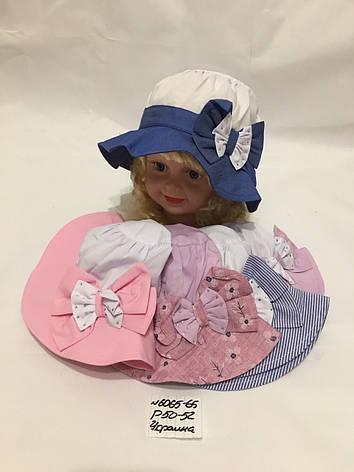 Летняя детская панамка для девочки Бантик р.50-52, фото 2