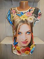 Футболка женская MARAKESH рисунок на фото с камнями 002 / купить женскую футболку оптом, не дорого