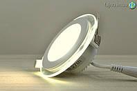 Встраиваемый LED светильник Glass Rim 6 Вт (97 мм круг)