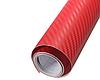 Карбоновая пленка 3D рулон 50х150 см КРАСНАЯ, фото 3