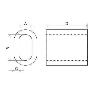 Втулка DIN 3093 чертеж