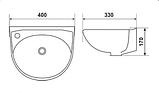 Раковина керамічна 9-036, фото 2