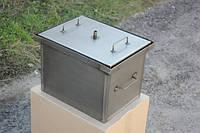 Коптильня для горячего копчения с гидрозатвором 2 уровня малая, металл 1мм.