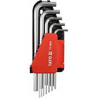 Набор из 12 длинных дюймовых шестигранных ключей Yato YT-5835