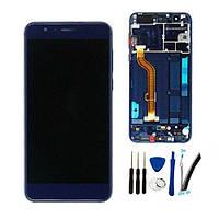 Дисплей для Huawei Honor 8 Pro (DUK-L09)/Honor V9 с тачскрином и рамкой синий Оригинал