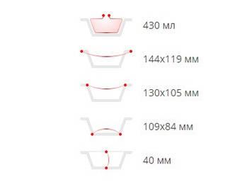 Контейнер из пищевой  алюминевой  фольги  5шт (SP24L&Lids/5 )(144*119*40) с крышкой (1 пач)