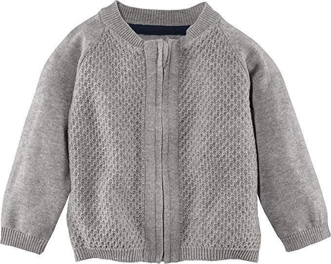 Кардиган, свитер серый на молнии р.62/68