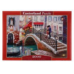 """Пазлы """"Мост в Венеции"""", 2000 эл (живопись, городской пейзаж, город, страны, улица, архетектура, любовь,"""