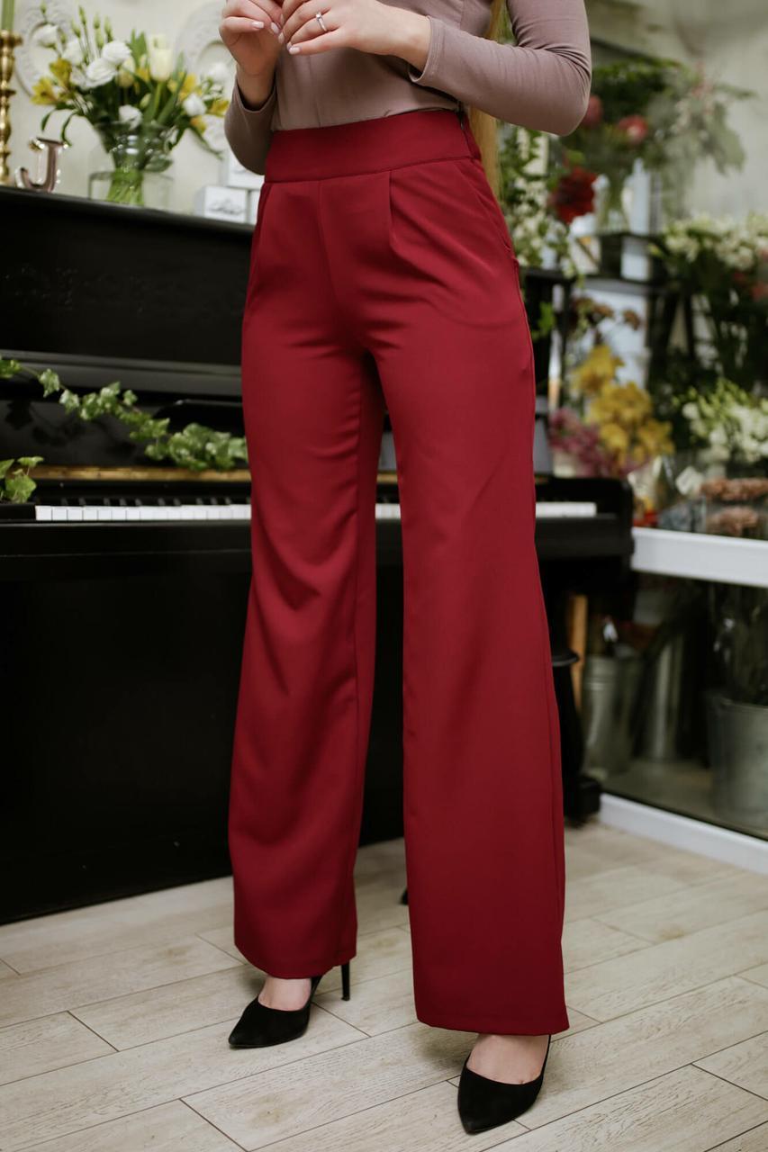 b8649deb3ab7 Красные брюки палаццо TWINKLE с широким поясом и боковой застежкой - Bigl.ua