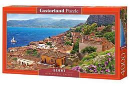 """Пазлы """"Монемвасия, Греция"""" , 4000 элементов (пейзаж, природа, лес, архетектура, горы, горный пейзаж)"""