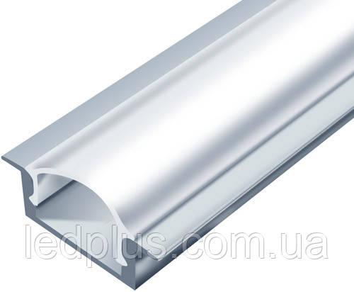Алюминиевый профиль для светодиодной ленты ЛПВ7 (не аннодированный)+ рассеиватель(матовый)