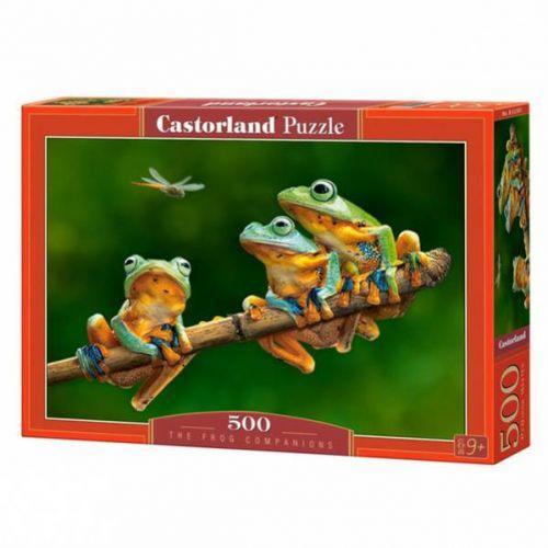 """Пазлы """"Компания лягушек"""", 500 элементов (лягушка, жаба, жабка, природа, животные)"""