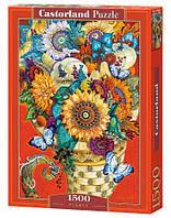 """Пазлы """"Букет в плетёной вазе"""", 1500 элементов"""