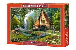 """Пазлы """"Старый дом в лесу"""", 2000 эл (лес, пейзаж, природа, поле, сельский пейзаж, домик)"""