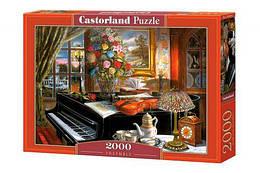 """Пазлы """"Дом музыканта"""", 2000 эл (натюрморт, пианино, уют, дом, домик, букет, цветочный букет, скрипка)"""