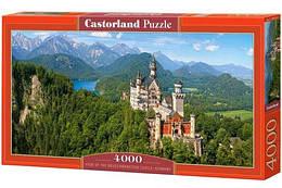 """Пазлы """"Нойшванштайн, Германия"""" , 4000 элементов  (пейзаж, природа, лес, архетектура, горы, горный пейзаж)"""