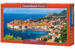 """Пазлы """"Дубровник, Хорватия"""", 4000 элементов  (пейзаж, природа, лес, архетектура, горы, горный пейзаж)"""