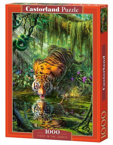 """Пазлы """"Тигр в джунглях"""", 1000 эл"""