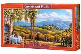 """Пазлы """"Виноградник"""" , 4000 элементов  (пейзаж, природа, лес, архетектура, горы, горный пейзаж)"""