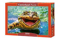 """Пазлы """"Лягушка"""", 500 элементов (жаба, жабка, природа, дикие животные, животный мир)"""