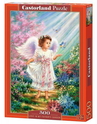 """Пазлы """"Ангел и птицы"""", 500 элементов (ангел, детки, дети, детишки, ребенок, птицы, птички)"""