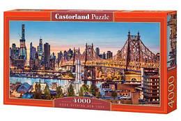 """Пазлы """"Вечерний Нью-Йорк"""", 4000 элементов (городской пейзаж, город, страны, улица, ночной город, ночние огни,"""