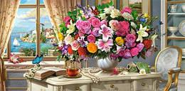 """Пазлы """"Летние цветы"""", 4000 элементов (цветы, сад, букет, цветочный букет, Летний букет, натюрморт)"""