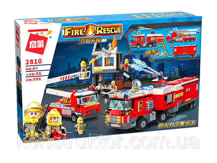 """Конструктор Brick 2810 """"Пожарные машины"""", 996 деталей"""