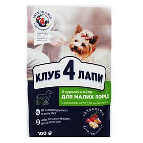 Корм Premium для собак с курицей 100 г Клуб 4 лапы