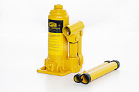 Домкрат гидравлический бутылочный 2т СИЛА - Инструмент в кейсе  (158-308мм) 27102