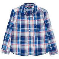 Блакитна сорочка в клітку для дівчинки, Kiabi, VT13106