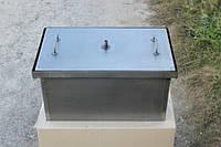 Коптильня 2-х ярусная для горячего копчения с гидрозатвором большая 1,5 мм 520х310х280 мм