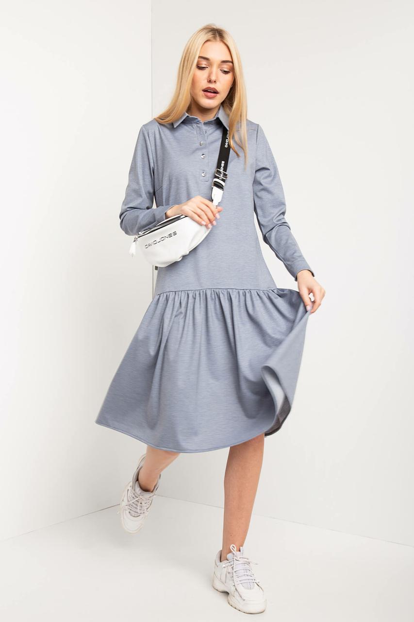 9583a77bd15 Трикотажное платье BRIANN рубашечного кроя с отрезной клешной юбкой - motus  в Ивано-Франковске