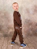 Брюки для мальчика спортивные (коричневый)