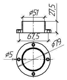 Фланец для поручня внешнего крепления 50 мм, фото 2