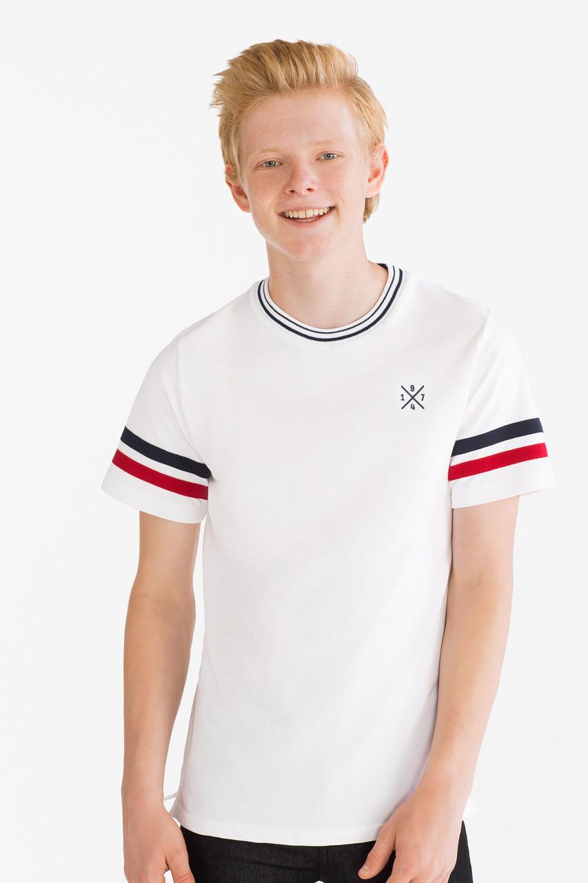 Белая футболка пике для мальчика C&A Германия Размер 134-140