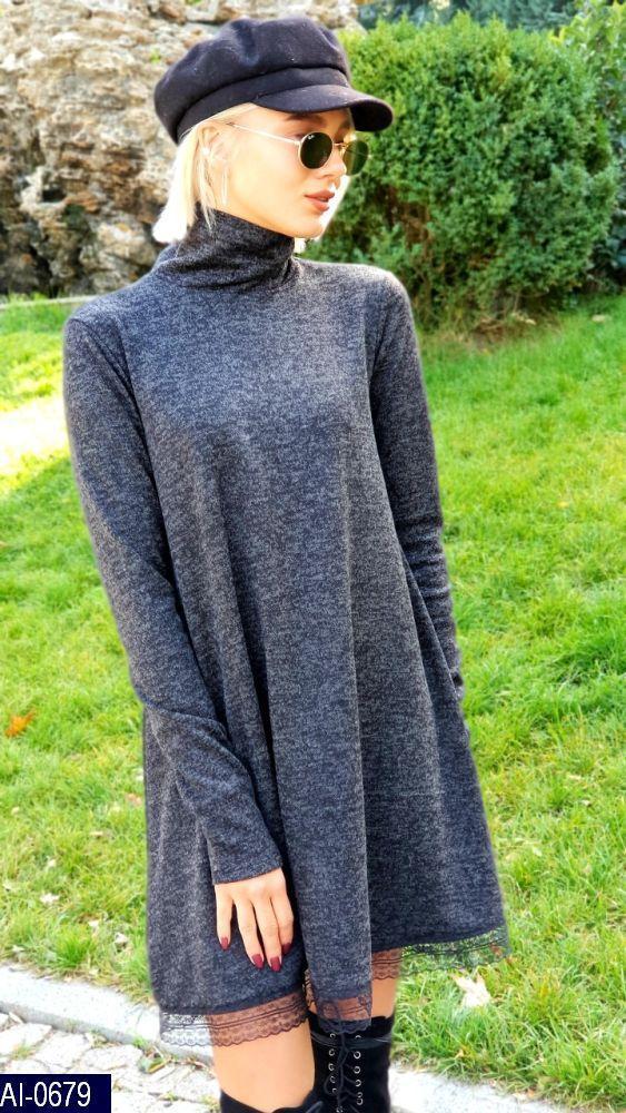Свободное платье с кружевом, фото 1