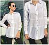 Женская рубашка с разрезами по бокам 18228