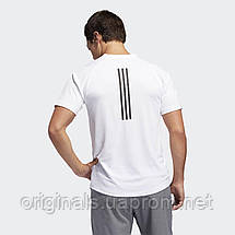 Белая футболка Adidas FreeLift Sport Fitted 3-Stripes DW9826  , фото 2
