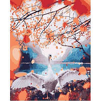 Картина по номерам. Лебедь у озера в коробке