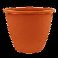 Вазон Верона 1,1 л коричневый