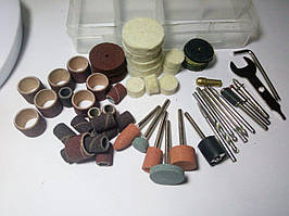Набір аксесуарів для міні дрилів і граверів з органайзером (84 предметів)