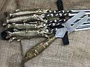 """Подарочный набор шампуров """"Царская охота"""" с вилкой для снятия мяса, в колчане из натуральной кожи, фото 4"""