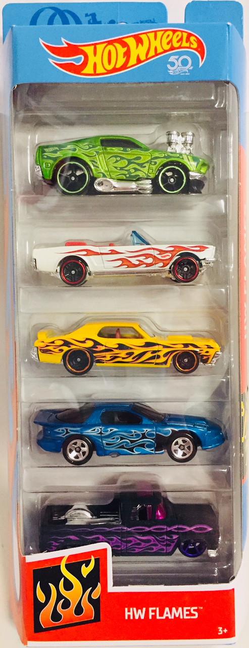 Набор из 5 машинок Хот Вилс Гоночные тачки Hot Wheels Ultimate Racing 5-Pack Hot Flames