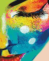 Картина по номерам. Женщина в красках, Картины по номерам, Картина за номерами. Жінка у фарбах